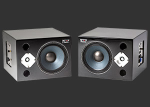 Powered recording studio monitors by Wayne Jones